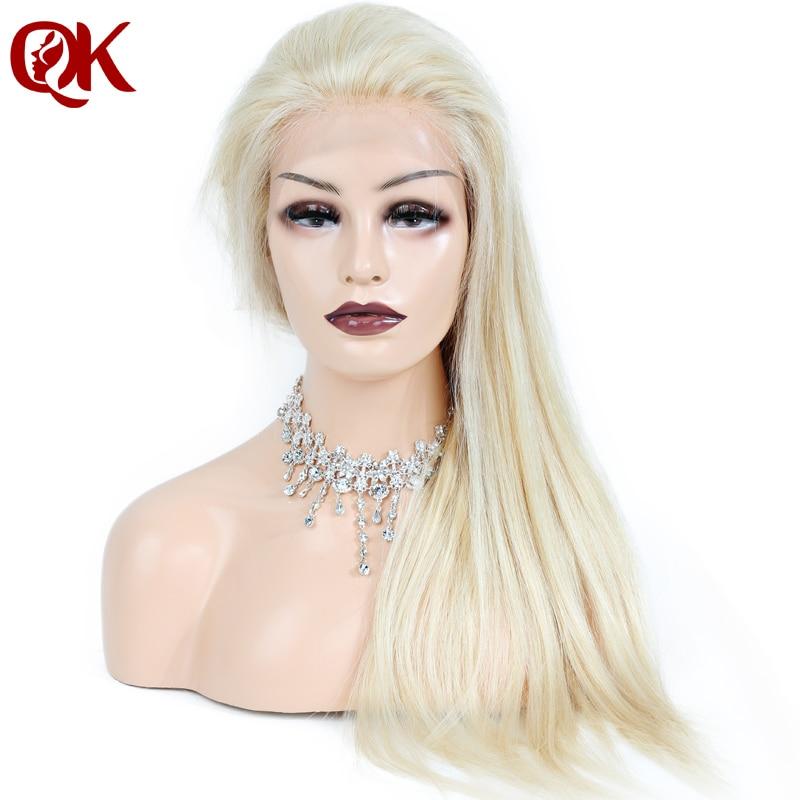 QueenKing волос бразильский человеческих светлые волосы 130% плотность полный шнурок 613 шелковистая прямая Реми парики для Для женщин бесплатная ...