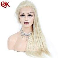 QueenKing волос бразильский человеческих светлые волосы 130% плотность полный шнурок 613 шелковистая прямая Реми парики для Для женщин бесплатная