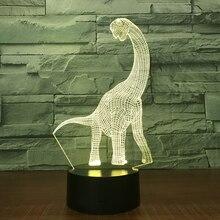 3D иллюсветодио дный Зия светодиодные лампы с динозавром Ночной светильник как друзья и праздничные подарки игрушка вечерние Flash атмосфера ночник