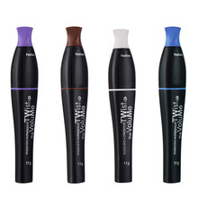 Fashion Brand Eye Lengthening Thick Curly Mascara Makeup Cosplay Colorful No Blooming Water Pro Cosmetic Makeup Tool 4 Colors