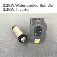 CNC Router Spindle Motor 2.2KW 80 ER20 Water Cooled Spindle + 2.2KW 220V/110V VDF Inverter For Milling Machine Tools