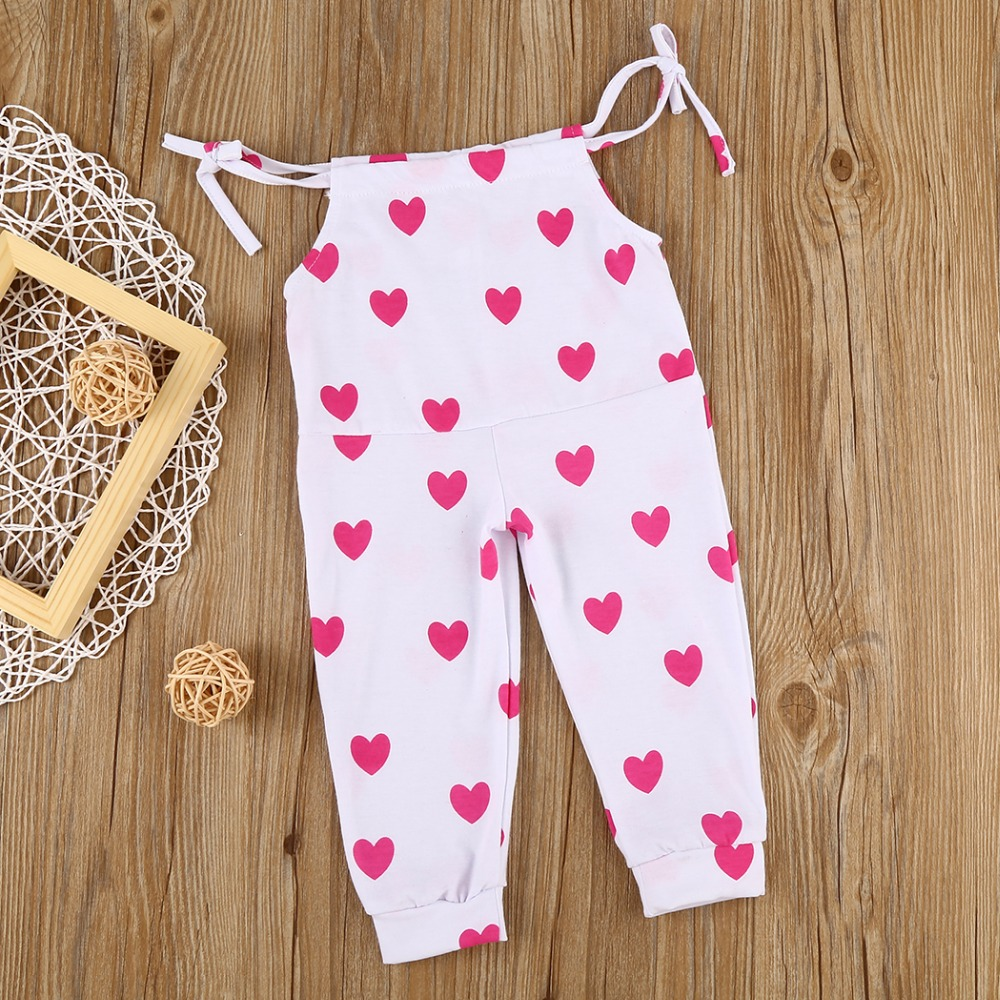Impartial 2017 Baby Girl Boy Cotton Red Heart Print Romper Leggings Outfits Sunsuit Hammock Boys Girls Love The Harness Jumpsuits F2 Bodysuits & One-pieces