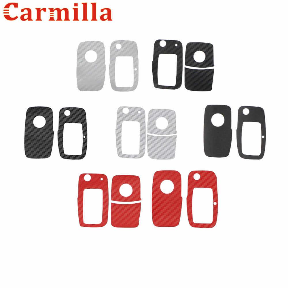 Carmilla Key สติกเกอร์สำหรับ Volkswagen VW Polo Golf 4 5 6 CC Passat Scirocco Jetta MK5 MK6 สำหรับ Skoda octavia 2 Superb Fabia