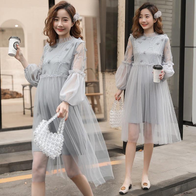 Elegant Maternity Wedding Dress Spring Summer Maternity Dresses for Photo Shoot Korean Fashion Pregnancy Dress Photography photo shoot