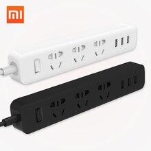 Оригинал XiaoMi 3 USB Зарядка Порта Mini Power Strip с 3 Розетки Стандартный Разъем