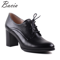 Bacia Patent Leather Square Heels Shoes 7.5cm Heels Pumps High Heels Genuine Leather Pumps Footwears New Size 35 40 MWB019