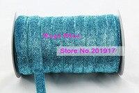 Repi Blue Glitter Velvet Metallic Ribbon+DIY Bowknot Headbands Wedding Party Sewing/Webbing Decoration Gift Ribbon Mix Cord