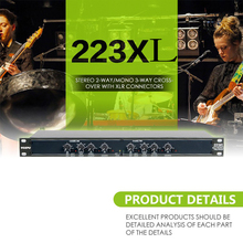Professional equalizer UKINGMEI 223XL audio Equalizer Stereo 2-Way/Mono 3-Way Crossover with XLR Connectors