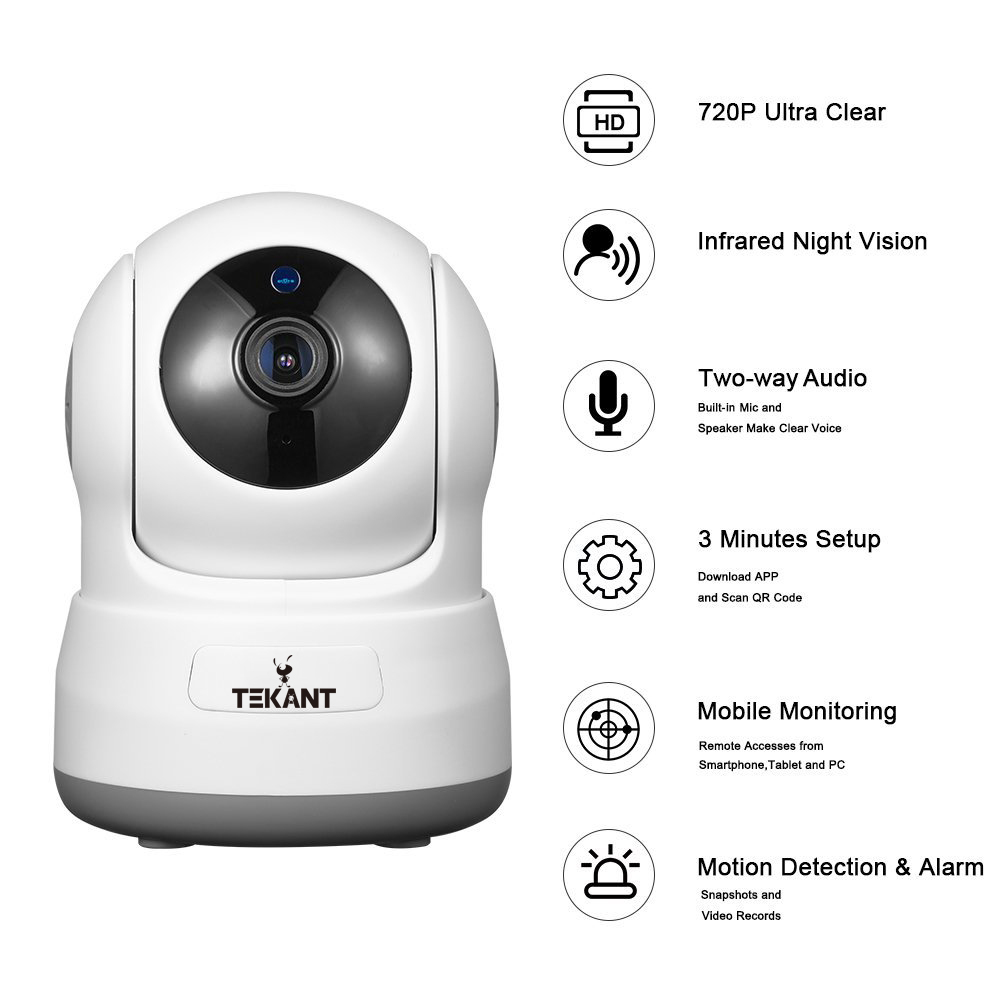 1080P Mini Wifi IP Camera Wireless P2P Network CCTV Security Camera with IR-cut Two Way Video Pan/Tilt HD Baby Monitor Indoor