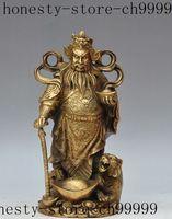 13 china brass wealth money coin ingot Zhongkui tiger Evil spirits lucky statue