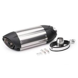 Image 2 - אוניברסלי אופנוע צינור פליטה שונה אופנוע עמעם פליטת צינור CBR600 CBR100 MT07 Z800 YZF בריחה