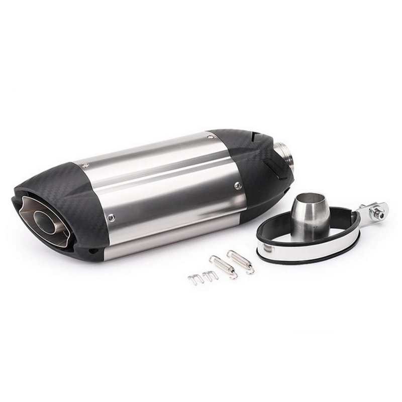 Image 2 - Universal Motorcycle Exhaust Pipe Modified Motorbike Exhaust Muffler Pipe CBR600 CBR100 MT07 Z800 YZF Escape-in Exhaust & Exhaust Systems from Automobiles & Motorcycles