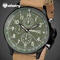 Homens INFANTARIA Quartz Relógios À Prova D' Água Grande Mostrador do Relógio PU Pulseira De Couro dos homens Do Exército Militar Esportes Relógio de Pulso Relogio masculino
