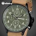INFANTRY Men Quartz Watches Waterproof Big Dial Sports Clock PU Leather Strap Men's Military Army Wrist Watch Relogio Masculino