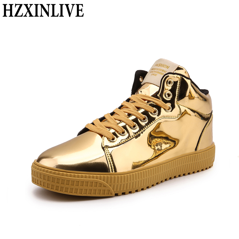 HZXINLIVE 2018 Women Vulcanized Shoes Sneakers Ladies Lace-up Casual Basket Shoes Walking Bling Mirror Leather Flat Silver Shoe e lov women casual walking shoes graffiti aries horoscope canvas shoe low top flat oxford shoes for couples lovers