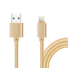 2 in 1 Universal Charger Cable for Both IOS and  Android Nylon Cord Micro USB Data Charging Charge Cable 3 Color