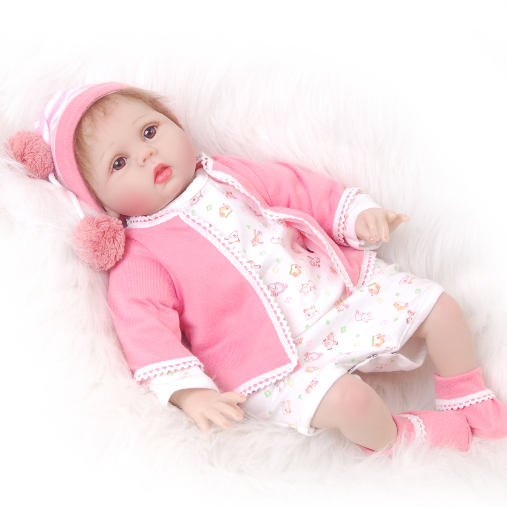 Soft Silicone 22 Inch Reborn Babies Doll Handmade Baby Dolls Collectible Real Looking Baby Lifelike Doll Kids Birthday Xmas Gift 22 silicone reborn dolls real reborn babies 100% handmade exquisite high quality brand doll reborn children gift doll