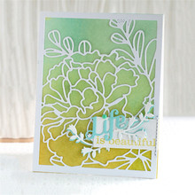 Naifumodo Peony Dies Flowers Frame Metal Cutting New Spring Handcraft Embossing Die Stencil for DIY Scrapbook  Card