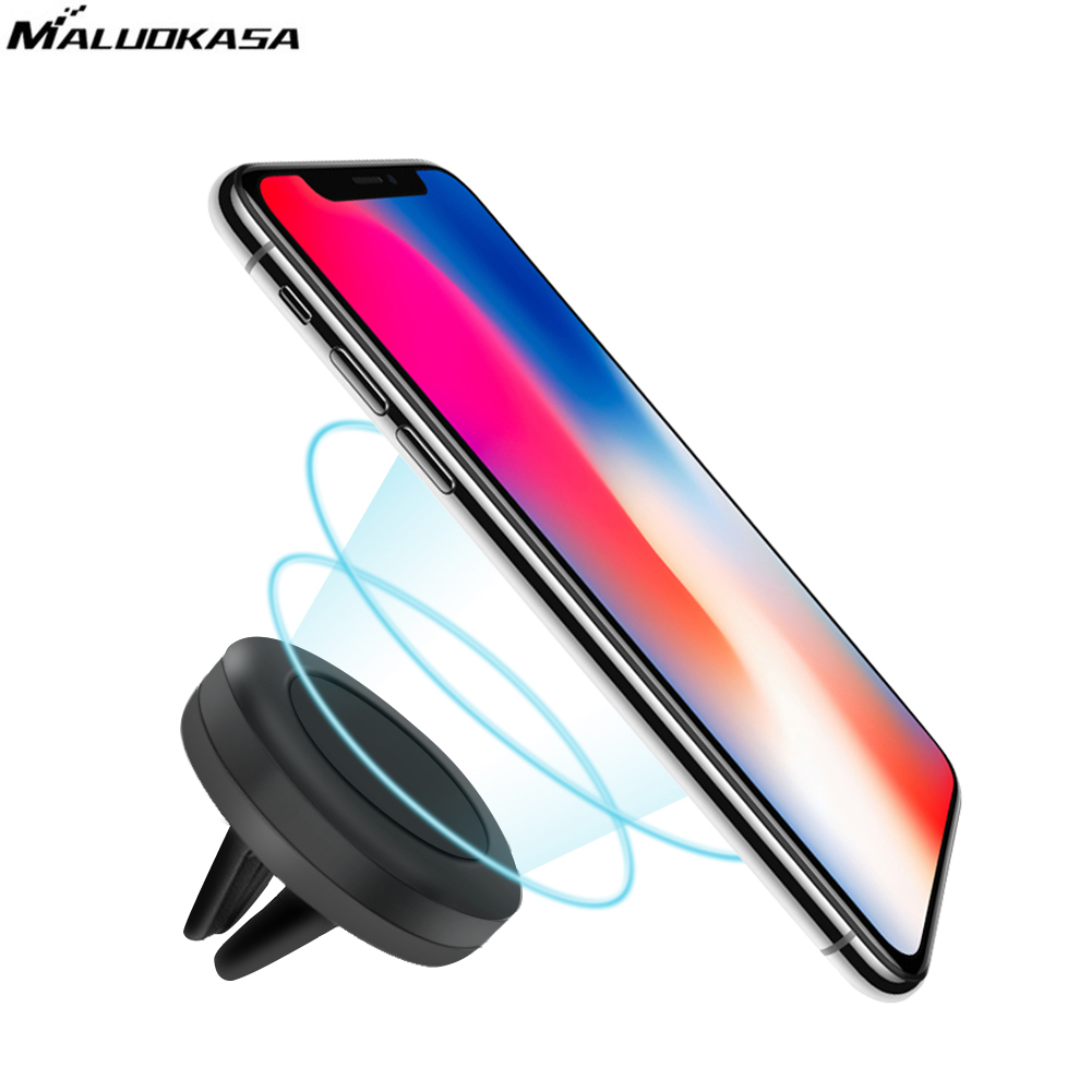 MALUOKASA Universal Magnetic Car Mobile Phone Holder Air Outlet Base Mount Stand Auto Smart Phone Magnet Support Stent Bracket
