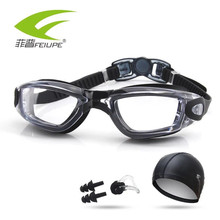 New Swimming Goggles Anti-Fog/Breaking UV Adjustable Swim eyewear men women Waterproof silicone glasses adult Eyewear F313s