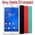 Abierto original sony xperia z3 compact z3 mini 3g 4g gsm wifi 20.7mp 4.6 ''quad core 16 gb reformado teléfonos celulares