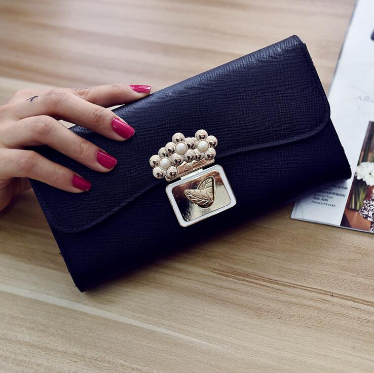 The new 20017 ladies wallet long hand bag Fashion leather large capacity thirty percent women wallet