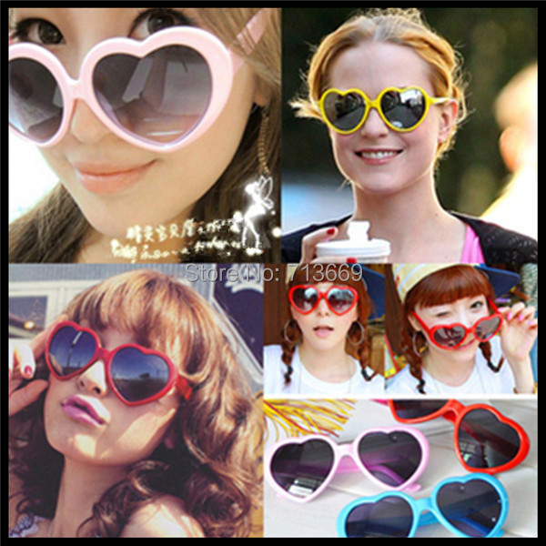 42099964eff 4Color choose Heart shaped glasses Red Yellow Pink White glasses sunglasses  sunglasses love Accessories Super Cool Sunglasses-in Sunglasses from Apparel  ...