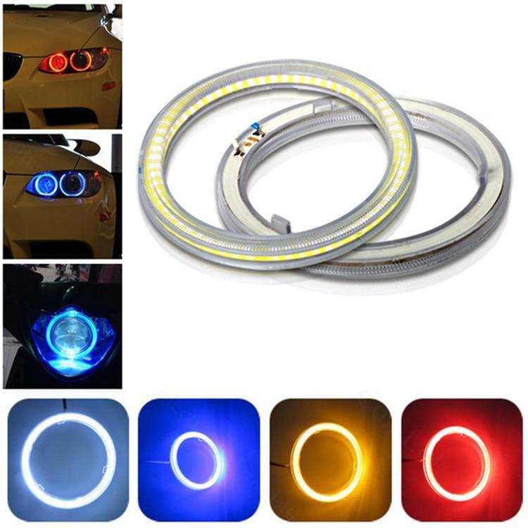 1 Pc Auto Angel Eyes Led-leuchten Großen Kreis Refit Cob Blende Nebel Motorrad Roller Tagfahrlicht Lampe