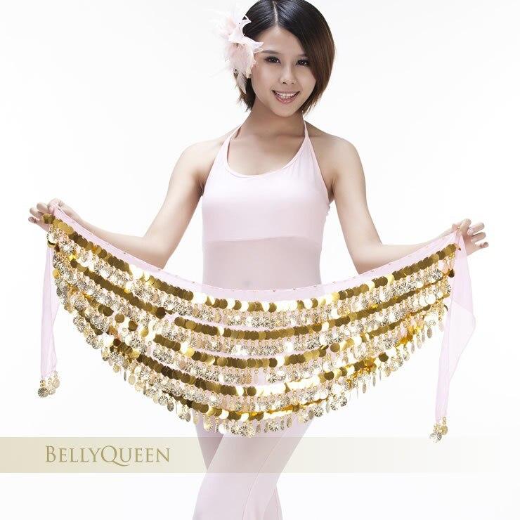 4c54e35d026e1 ✅2016 العلامة التجارية جديد رخيصة المرأة مثير 288 عملات البطن الرقص ...