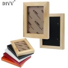 Home Wider DIVV Fashion Home Decor Wooden Picture Frame Wall Mounted Hanging Photo Fram Sep927 Drop Shipping(China)