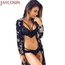JAYCOSIN Marketing Mulheres sexy sutiã de renda roupa interior lingerie bralette cortadas feminino lingerie erótica Transporte Da Gota Preto Branco