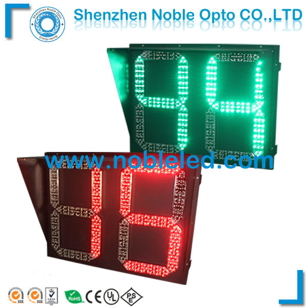 500mm large red green dibit digits countdown timer LED traffic lights