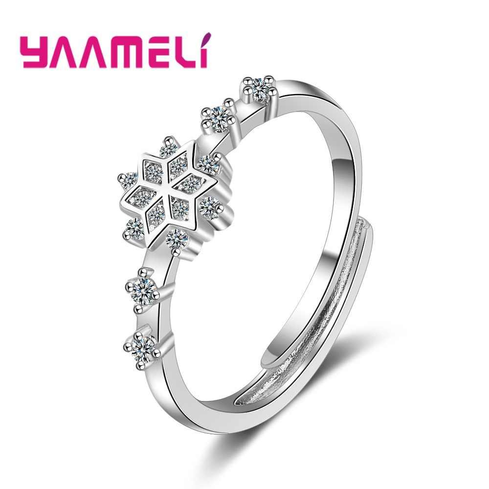 Изысканное кольцо на палец из серебра 925 пробы с регулируемым размером для мужчин и женщин, блестящее прозрачное CZ Австрийское хрустальное кольцо со звездами, дизайнерские подарки, корейские ювелирные изделия