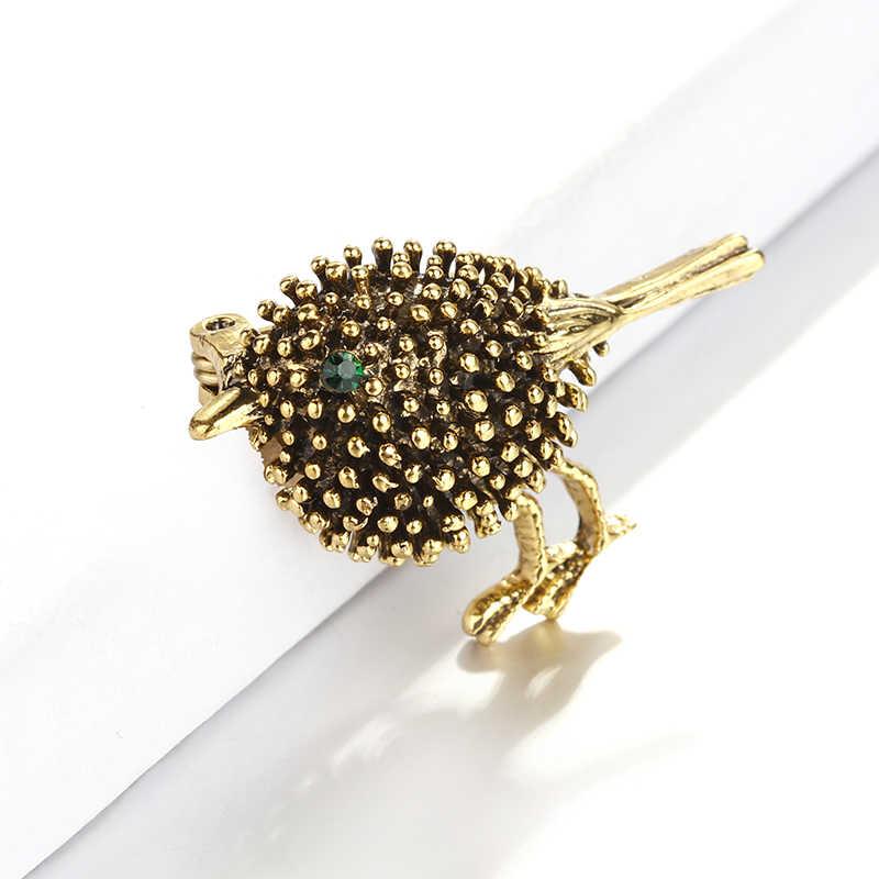 ALLYES คริสตัล Eye ขนาดเล็กนกเข็มกลัดสำหรับผู้หญิงผ้าพันคอเคลือบฟัน Pins สัตว์เข็มกลัดเครื่องประดับหญิง