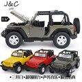 1:32 Jeep Wrangler Rubicon Внедорожник Металлического Сплава Литья Под Давлением Игрушечных Автомобилей Модели Маленького Масштаба Модель Звук и Свет Эмуляции Электрический Автомобиль