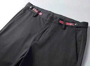 Image 5 - 무료 배송 고품질 여름 남성 패션 비즈니스 캐주얼 바지 남성 긴 슬림 바지, 기본 스타일 별 자수 바지