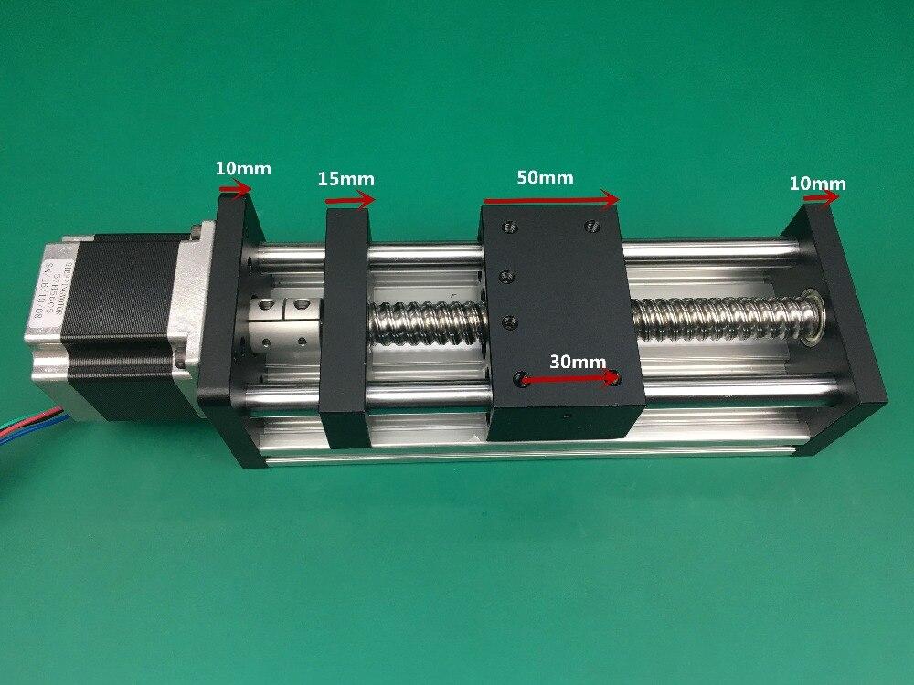 GGP 1204 1605 1610 vis à billes Table coulissante course 300mm Rail de guidage axe XYZ mouvement linéaire + 1 pc nema 23 moteur pas à pas