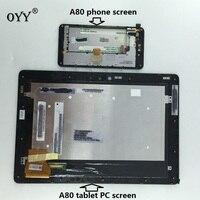 จอแอลซีดีจอแสดงผลหน้าจอมอนิเตอร์หน้าจอสัมผัสDigitizerสมัชชาแก้วที่มีกรอบสำหรับASUS P Adfone Infinity 3 A80 T003แท...