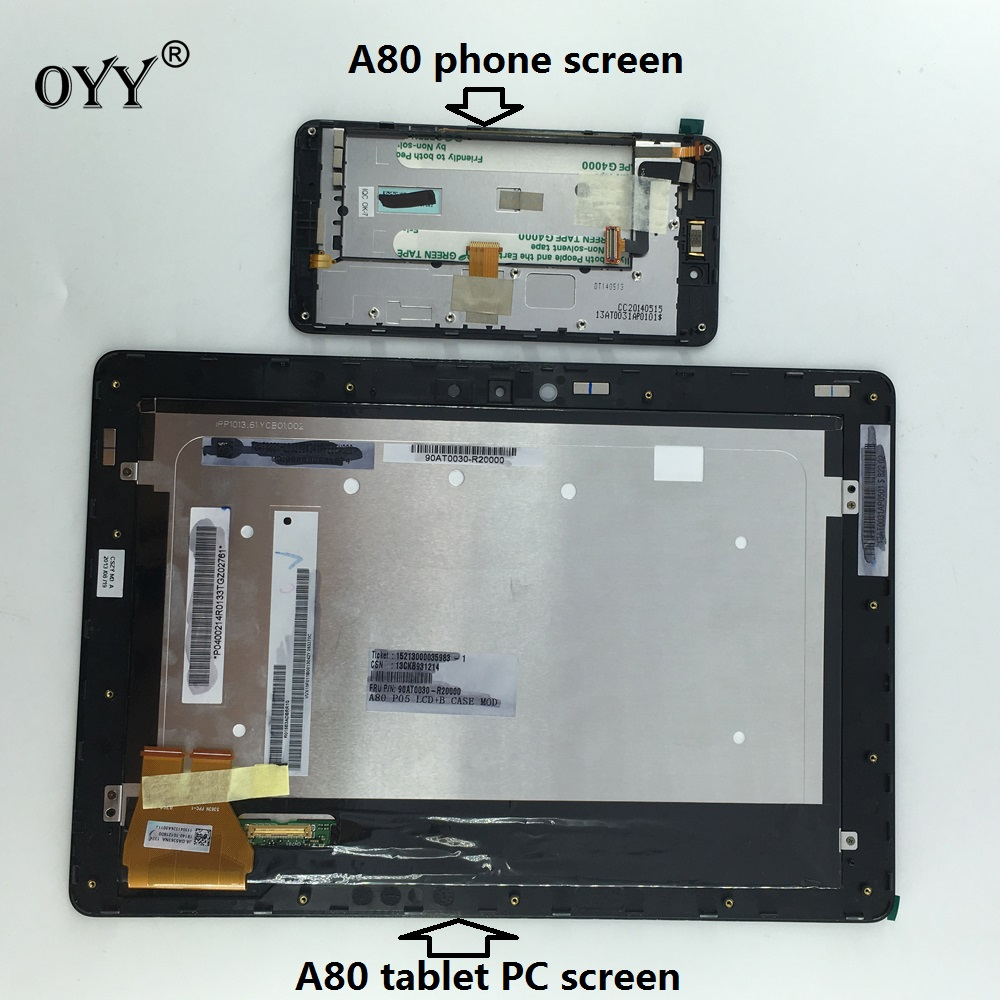 LCD Display Panel Screen Monitor Touch Screen Digitizer Glass Assembly with frame For ASUS Padfone 3 Infinity A80 T003 Tablet PC lcd display panel screen monitor touch screen digitizer assembly parts for asus memo pad 8 me180 me180a k00l tablet pc