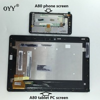LCD Display Panel Screen-Monitor Touchscreen Digitizer Glass Assembly mit rahmen Für ASUS Padfone 3 Unendlichkeit A80 T003 Tablet PC