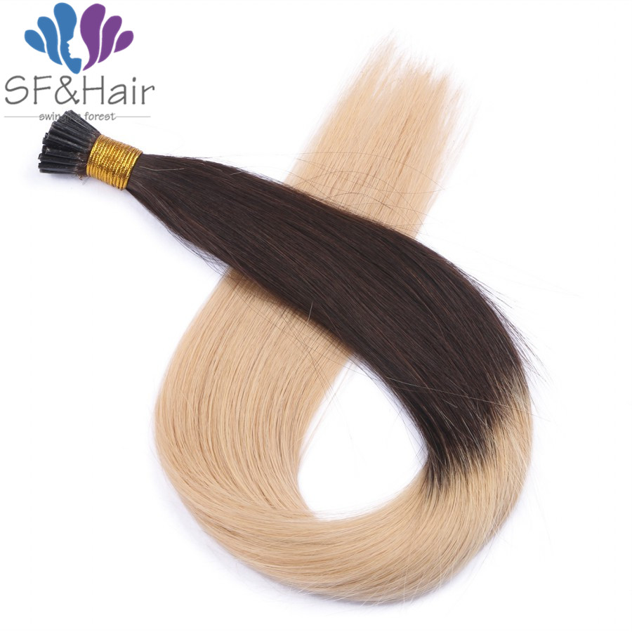 Ombre I Tip font b Hair b font Extensions Balayage Highlight Dark Brown Roots Color 2