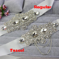 ZXW48 Exquisite Handmade Wedding Belts Crystal Rhinestone Pearl Beading Bridal Belt Sash Evening Dress Belt