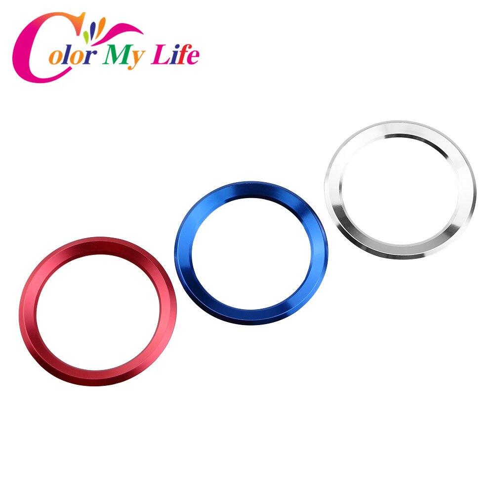Color My Life Aluminum Alloy Car Steering Wheel Decoration Circle Trim Sticker For Skoda Octavia A5 A7 Fabia Rapid Yeti Superb