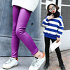 Fleece Big Baby Girls Pants Winter Leggings Children Clothing Blue Black Purple Thick Autumn Shinny Pants