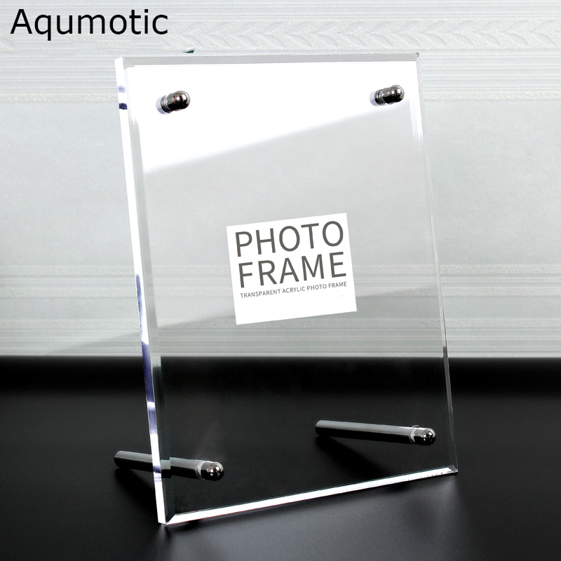 Aqumotic Clear Acrylic Frame 8x10 Large Akrylic Picture Frame Transparent Glass Square Acrylic Poster Photo Frame Holder Fine
