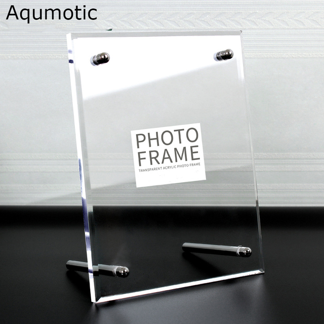 Aqumotic Clear Acrylic Frame 8x10 Large Acrylic Picture Frame