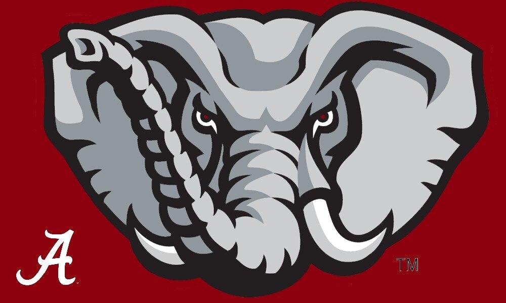 NCAA Alabama Crimson Tide Logo Hand Flagge 90*150 CM Club Team Banner 100D Polyester NCAA Fahnen Banner Neue kommen
