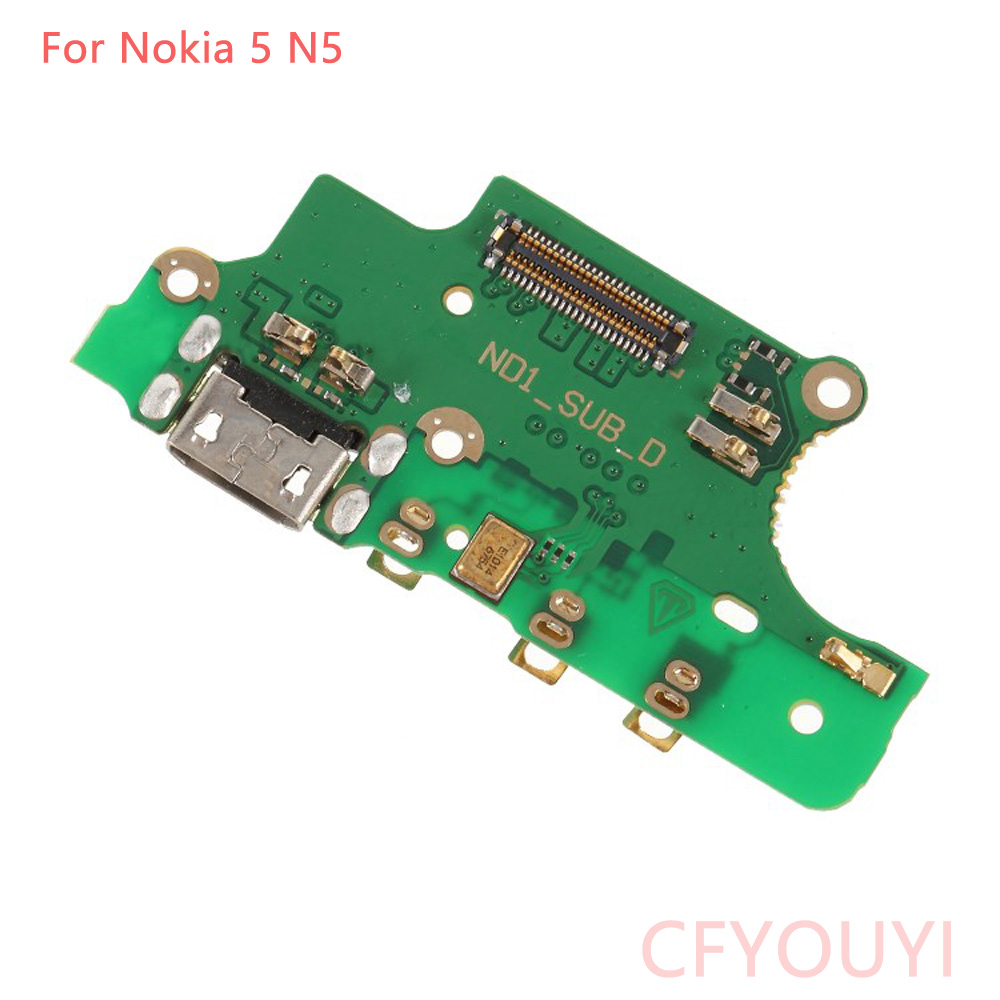 For <font><b>Nokia</b></font> 5 N5 TA-<font><b>1053</b></font> TA-1021 TA-1024 Usb Charger Board USB Charging Port Dock Plug Jack Connector Flex Cable + Microphone image