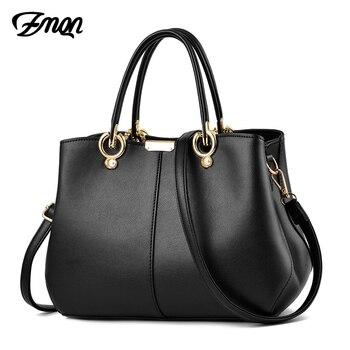 ZMQN sacs à main de luxe femmes sacs Designer 2019 sac à bandoulière noir pour femmes marques célèbres solide dames sacs à main en cuir PU A832