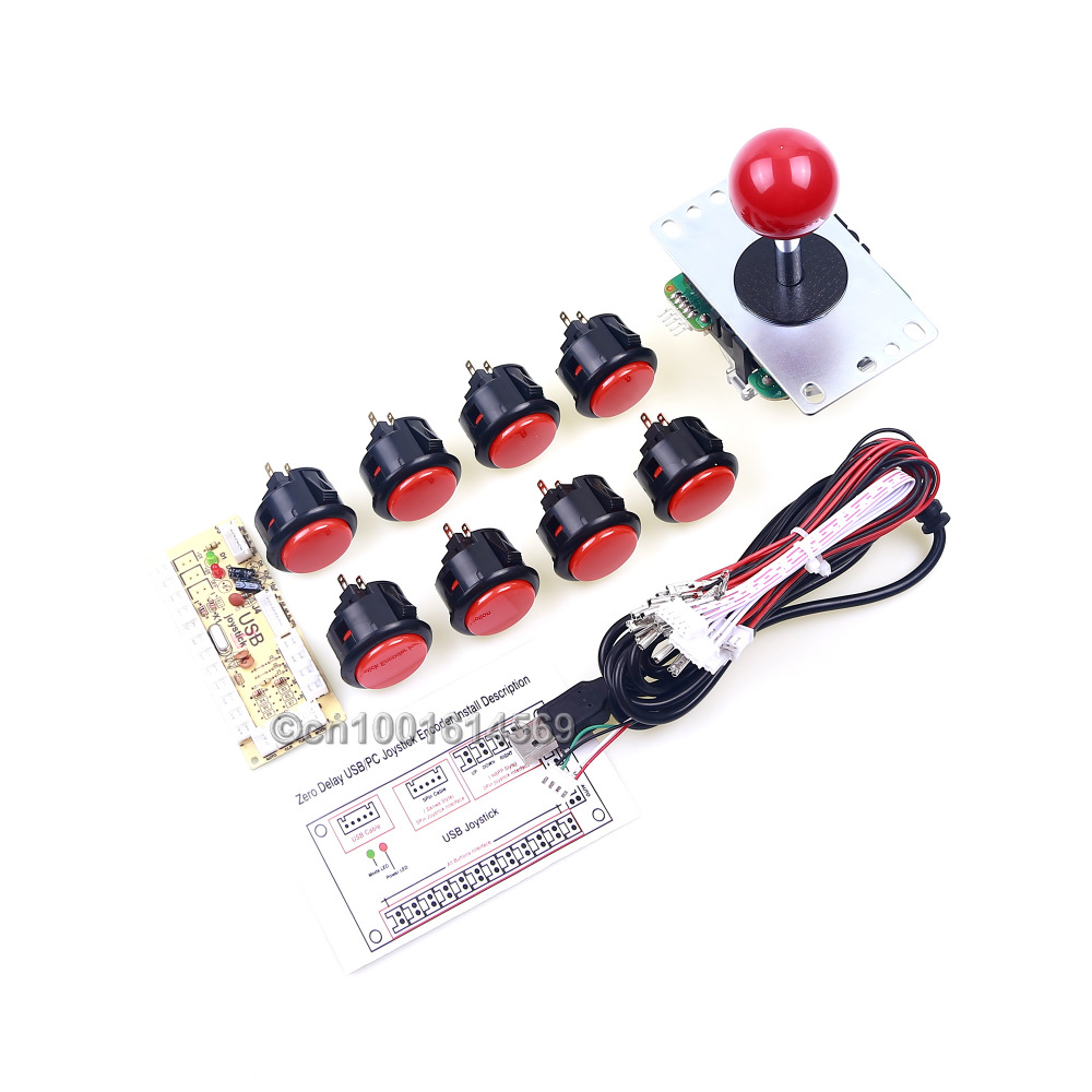 Genuine Sanwa Bundles DIY Kits 30mm 8 x Sanwa Button + Sanwa Joystick JLF-TP-8YT For Raspberry Pi Retropie 3 Model B & MAME GameGenuine Sanwa Bundles DIY Kits 30mm 8 x Sanwa Button + Sanwa Joystick JLF-TP-8YT For Raspberry Pi Retropie 3 Model B & MAME Game